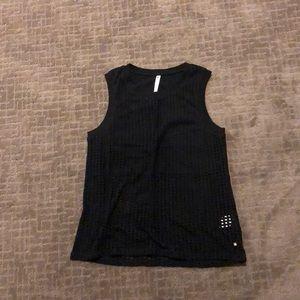 Fabletics mesh tank top with black underlay